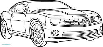 Coloriage Mandala Voitures Awesome Coloriage Voiture Camaro A