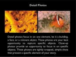 photo essay outline stablishing shots 13