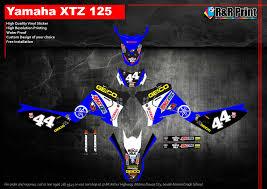 Yamaha Xtz 125 Decals Design Yamaha Xtz 125 Decals Sticker