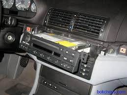 bmw e46 diy bluetooth parrot ck3000 and connects2 disconnect cables from the back of the radio