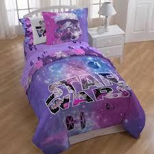 image of purple star wars bedding twin