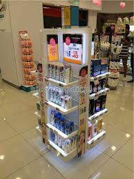 In Store Display Stands Cosmetics Display Stand Instore Promotional Lighting Makeup 85