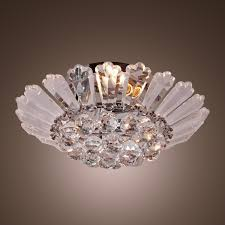 flush mount crystal chandelier. LightInTheBox Modern Semi - Flush Mount In Crystal Feature, Home Ceiling Light Fixture Chandeliers Lighting For Dining Room, Bedroom, Living Room Close To Chandelier
