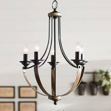 angelica 5 light mini candle style chandelier