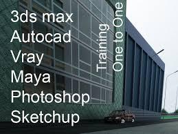 1 to 1 architecture autocad mac revit 3dmax rhino photo indesign interior design tutor london