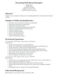 Sample Resume Accounting Clerk Accounts Payable Clerk Resume Sample