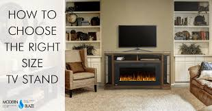 Tv Stand Size Chart How To Choose The Right Size Tv Stand Modern Blaze
