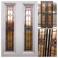 star four panel stained glass entrance door
