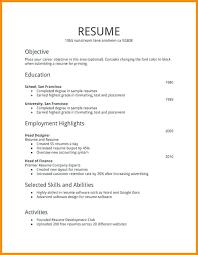 First Time Job Resume Noxdefense Com