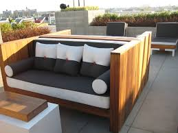 image of diy outdoor furniture couch