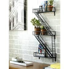 fire escape wall art shelf