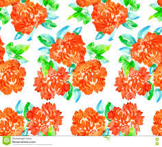 Paper Carnation Flower Repeatable Floral Motif For Fabric Or Wrapping Paper Stock