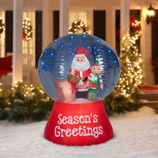 one of the faster selling animated outdoor christmas decorations still remains the large snow globes filled with various scenes