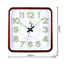 luminous wall clock square simple