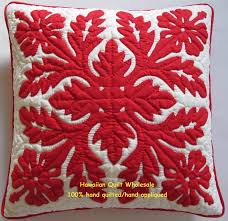 Hawaiian Quilt Wholesale & Hibiscus-RE<br>2 pillow covers Adamdwight.com