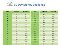 Save Nearly 500 With The 30 Day Money Challenge 52 Week