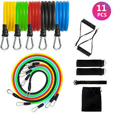 11Pcs <b>Set Resistance Bands</b> Workout Exercise <b>Yoga</b> Crossfit ...