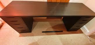black ikea linnmon alex desk 200cm