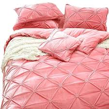 pink comforter full pink comforter bedding pillowcases bedspread upgraded velvet comforter bedding set bed linen for