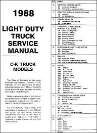 1991 gmc c k sierra pickup wiring diagram manual 1991 description 1988gmckorm toc gmc c k sierra pickup wiring diagram manual