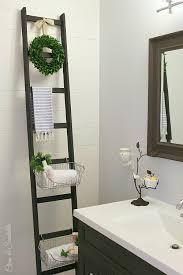 diy bathroom storage. Love The Look Of This DIY Ladder! Such A Great Way To Add Some Extra Diy Bathroom Storage
