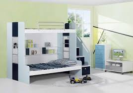 Modern Bedrooms For Boys Bedroom White Modern Stained Solid Wood Boys Bunk Bed