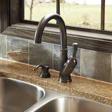 high arc bronze kitchen faucet