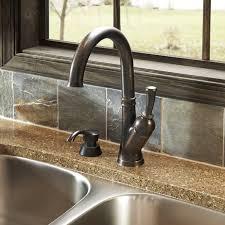 high arc bronze kitchen faucet