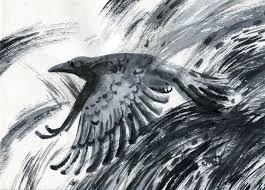 черный ворон рисунок кинозавр