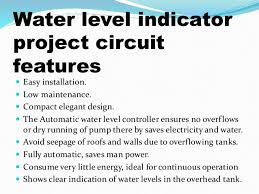 ppt on water level indicator water level indicator circuit diagram