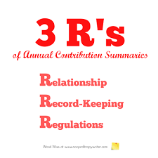 How To Write An Annual Contribution Summary Letter