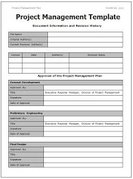 Project Templates Word Project Management Templates 4 Printable Word And Pdf