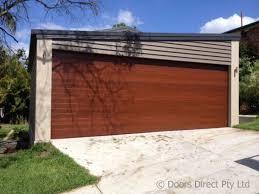 Sectional Garage Doors - Timber Look - Doors Direct