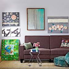 living room artwork on wall picture artwork with 14 easy canvas wall art projects better homes gardens