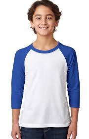 Next Level Raglan Shirt Size Chart Youth Cvc 3 4 Sleeve Raglan