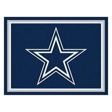dallas cowboys area rug 8 x 10 nylon