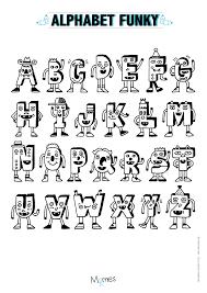 Coloriage Alphabet Rigolo Momes Net