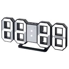 <b>Часы Perfeo Luminous</b> (<b>PF-663</b>) (черный корпус, белая подсветка ...