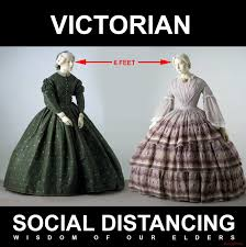 We're not trying to make light of the situation, but a little lols never hurt. Victorian Social Distancing Google Search Victorian Fashion Fashion 1850s Fashion