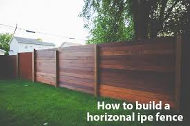 horizontal wood fence diy build horizonal ipe