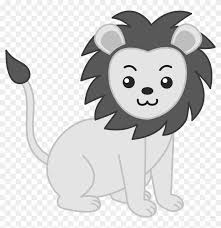 baby lion clipart black and white. Wonderful Clipart Baby Lion Animal Free Black White Clipart Images Clipartblack  Zoo Animals  Inside And Y
