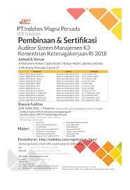 Sertifikat Pelatihan Jadwal Lengkap Pelatihan Dan Sertifikasi K3 2018