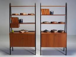 mid century modern bookshelf. Mid Century Modern Bookcase Bookshelf Enchanting Plans Brown With Books C