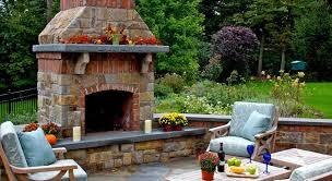 outdoor brick fireplace design ideas