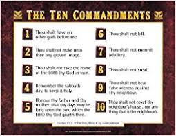 10 Commandments Chart Kjv Ten Commandments Wall Chart Laminated
