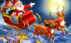 Cute Merry Christmas 3d Wallpaper
