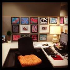 ideas for decorating office cubicle. Cubicle Decor With Dollar Tree Frames And Printed Lilly Pulitzer Patterns.  Total Cost: $22 Ideas For Decorating Office Cubicle O