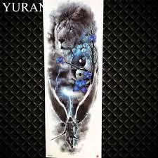 лидер продаж воды передачи больших татуировки полная рука будды временные