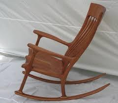 custom made cherry rocking chair
