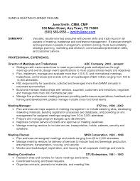 Sample Resume Objectives For Event Coordinator Valid Marvelous Ideas
